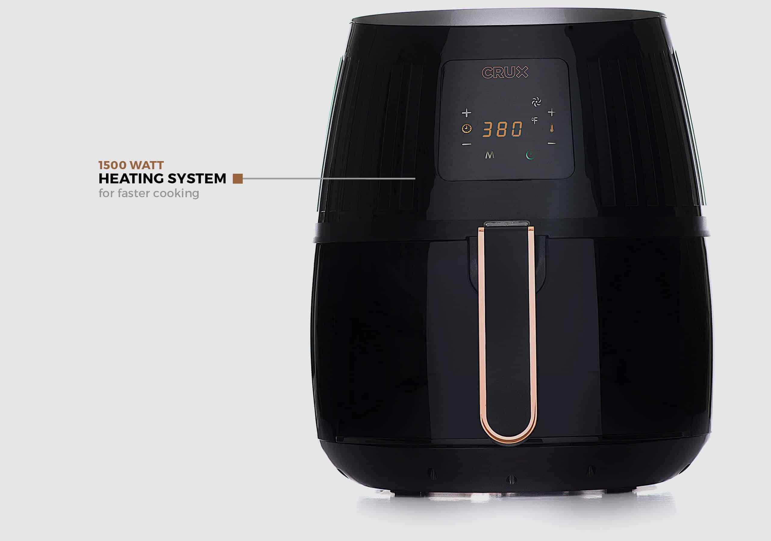 Crux 2.2 Qt. Touchscreen Air Convection Fryer