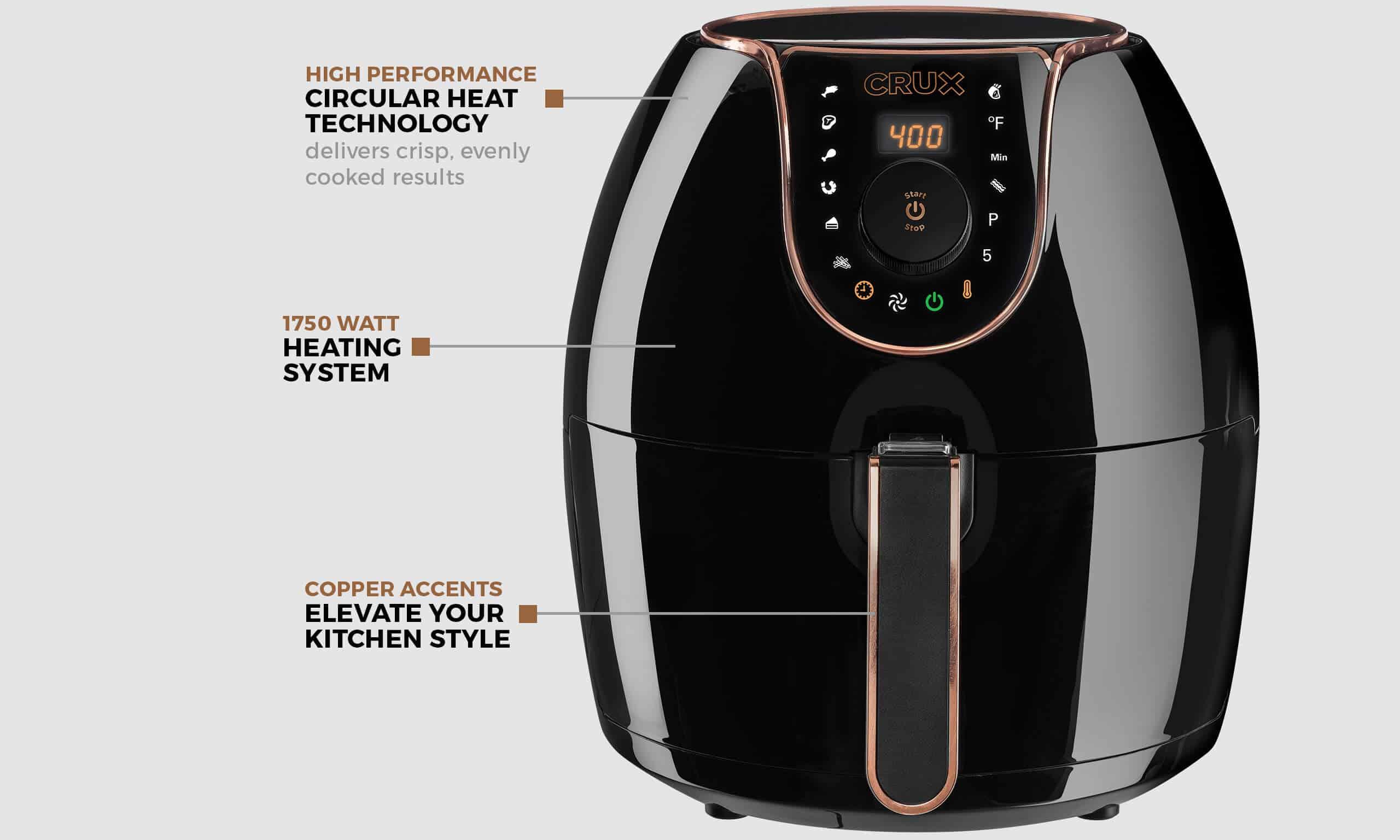 Crux 5.3-Qt. Digital Air Convection Fryer
