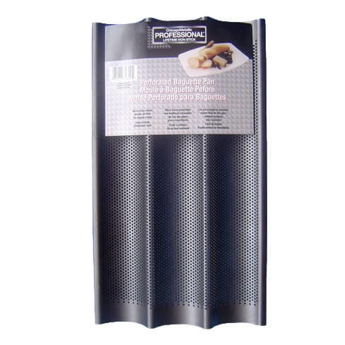 "Chicago Metallic Perforated Baguette Pan 16 x 9"" Aluminized Steel"