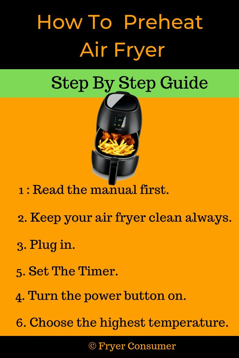 how to preheat air fryer